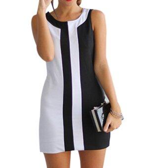 Harga Women's Sleeveless Bandage Evening Party Cocktail Club Mini Dress - Intl