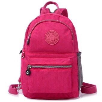 RICHCOCO กระเป๋าเป้สะพายหลัง Nylon leisure Backpack (Hot Pink)