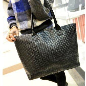 Fashion กระเป๋าสะพาย กระเป๋าสะพายข้างสีดำสำหรับผู้หญิง No.0222
