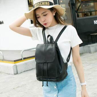 Little Bag กระเป๋าเป้สะพายหลัง กระเป๋าเป้เกาหลี กระเป๋าสะพายหลังผู้หญิง backpack women รุ่น LP-120 (สีดำ)