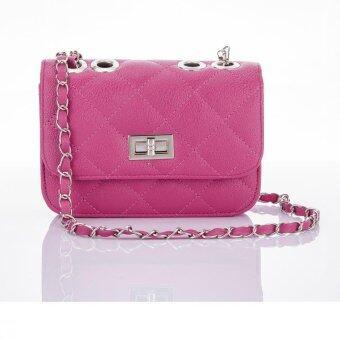 Premium Bag กระเป๋าแฟชั่น กระเป๋าสะพายข้าง รุ่น PB-004 (สีชมพู)