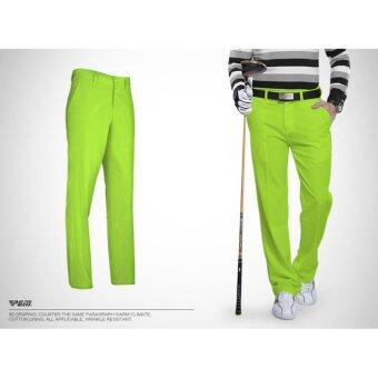 EXCEED กางเกงกอล์ฟสำหรับสุภาพบุรุษ PGM สีเขียว (KUZ005) Genuine Top Design Golf Pants Ultra Thin Men Summer Slim Fashion Trousers (GREEN)