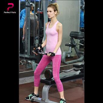 Perfect Pairs กางเกงออกกำลังกาย กางเกงโยคะ สามส่วน - สีชมพู