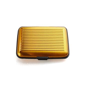 Daisi1แถม1 กระเป๋าอลูมิเนียม กันน้ำ ใส่บัตรเครดิตการ์ด กระเป๋าตัง กระเป๋าใส่นามบัตรDaisi0070-goldทอง