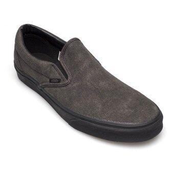 Vans รองเท้า รุ่น VN-0ZMR5Q6 Classic Slip-On Washed (Black/Black)