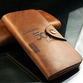 Matteo กระเป๋าเงินใบยาว กระเป๋าหนัง รุ่น Bailini 501 2106 - สีกาแฟ