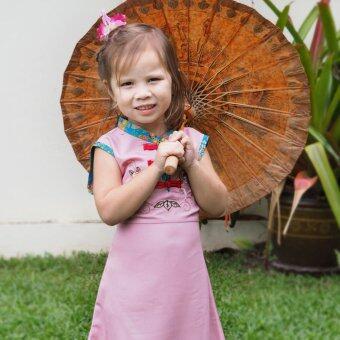 Princess of Asia ชุดเดรสเด็กผู้หญิง ชุดเดรสทรงจีน (สีชมพู)