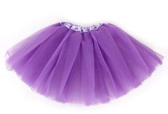 เด็กทารกน่ารัก ๆ กระโปรงกระโปรงเด็กชุดบัลเล่ต์แต่งตัว Dancewear-สีม่วง