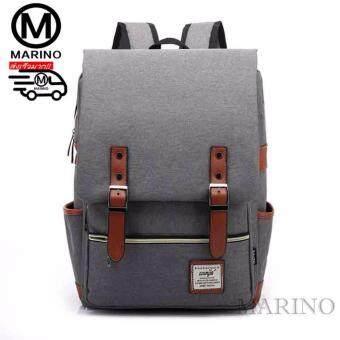 Marino กระเป๋า กระเป๋าเป้ กระเป๋าสะพายหลัง กระเป๋าใส่โน๊ตบุ๊คBackpack No.0225 - Grey