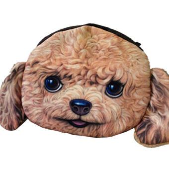 YBC ผู้หญิงหน้าเงินเหรียญสุนัขกระเป๋ากระเป๋ากระเป๋าสตางค์มินิกำมือ