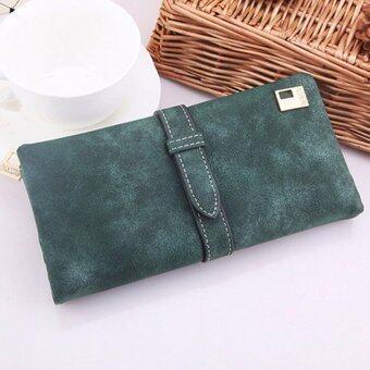 Matteo กระเป๋าใส่เช็ค กระเป๋าเงินใบยาว กระเป๋าโทรศัพท์ E-RANYD สีเขียว