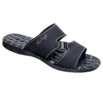 Aerosoft รองเท้าแตะผู้ชาย P1506 สีดำ