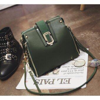 Good things For u กระเป๋าสะพายข้างแฟชั่นเกาหลีผู้หญิง หนัง PU รุ่น 0059MB - สีเขียว