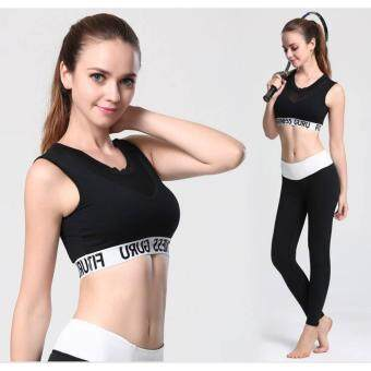 PBx Top Sport Bra_สปอร์ตบรา ออกกำลังกาย สีดำ