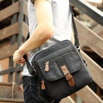 OSAKA กระเป๋าผู้ชายสะพายข้าง สะพายไหล่ ผ้าCANVAS รุ่น UP151 – Black