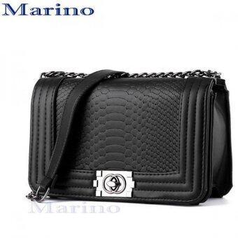 Marino กระเป๋า กระเป๋าสะพาย กระเป๋าสะพายผู้หญิง No.1140 - Black