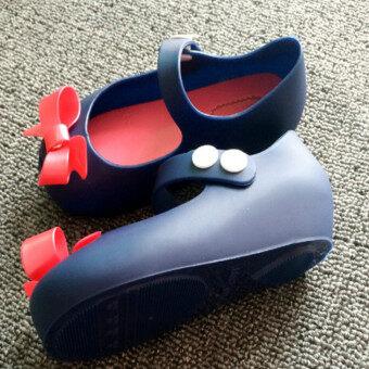 I64 แฟชั่นรัดเท้าลูกสาวร้อนใส่รองเท้ารองเท้าแตะลูกสาวสายรุ้งวุ้นสีสอง-ในประเทศ