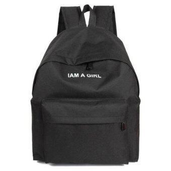 Coconie เพศหญิงชายผ้ากระเป๋าเป้สะพายหลังกระเป๋าสะพายกระเป๋าเป้เรียนหนังสือสีดำจัดส่งฟรี