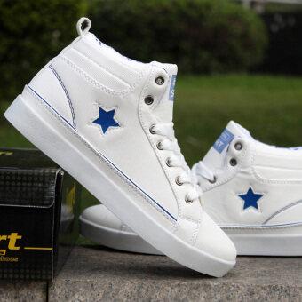 แฟชั่นผู้ชายรองเท้าผ้าใบข้อเท้าบู๊ทบู๊ทส์สั้นสูงสูงสุดรองเท้ากีฬารองเท้าลำลองเดินเดินทางรองเท้า Men's Fashion Sneakers Ankle Boots Short Boots High Top Casual Sports Shoes Walking Shoes Travelling Shoes