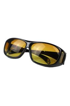 ขี่ม้าขับ Fancyqube แว่นตาแว่นตากันแดดมองในที่มืดสีเหลือง