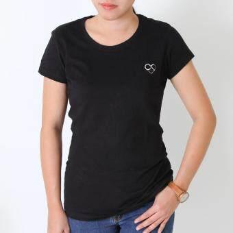 POLOMAKER เสื้อยืด MicroBrush TMO16 สีดำ ปักหัวใจ๙ (Female)