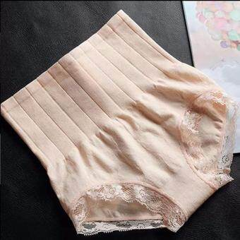 MUNAFIE กางเกงในเก็บพุง กางเกงในลดไขมัน สีครีม จำนวน (1 ตัว)