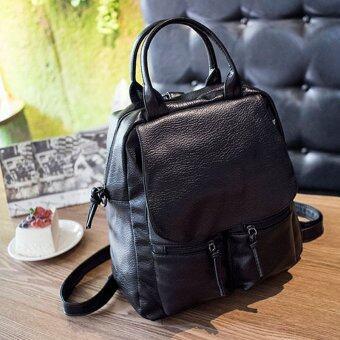 Little Bag กระเป๋าเป้สะพายหลัง กระเป๋าเป้เกาหลี กระเป๋าสะพายหลังผู้หญิง backpack women รุ่น LP-086 (สีดำ)