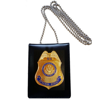 Harga Collection US DS Security Special Agent Police Officer Badge ID Cards Holder 1:1