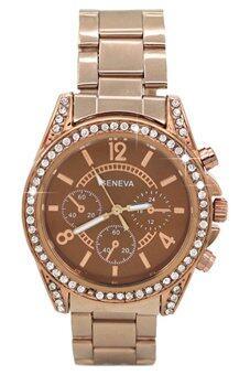 Bluelans เจนีวาหญิงกาแฟนาฬิกาสายสเตนเลส