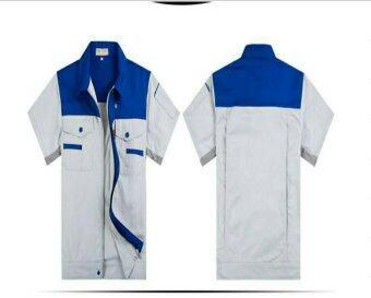 T Shert เสื้อช่าง สีน้ำเงิน