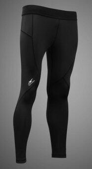 Spandex กางเกงรัดกล้ามเนื้อขายาวตัดต่อ LS001 สีดำ/ตะเข็บดำ