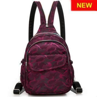 RICHCOCO กระเป๋าเป้สะพายหลัง Nylon leisure Backpack (K01_4 Rose Purple)