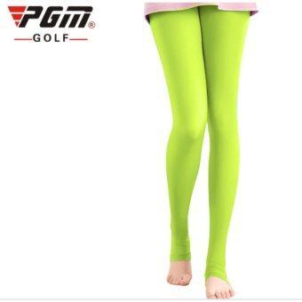 EXCEED LEGGINGS LADY PGM LIGHT GREEN COLOUR กางเกงเลคกิ้ง (KUZ014) สีเขียวสะท้อนแสง