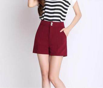 Harga New Female High Waist Wide Leg Shorts Summer Korean A Word Large Size Fashion Loose Wild Shorts - intl