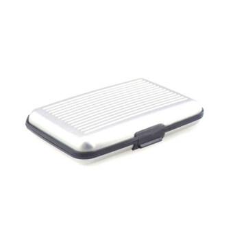 Daisi1แถม1 กระเป๋าอลูมิเนียม กันน้ำ ใส่บัตรเครดิตการ์ด กระเป๋าตัง กระเป๋าใส่นามบัตรDaisi0070-silverเงิน