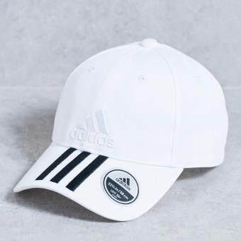 Adidas หมวก อาดิดาส Women Cap 6 Panel 3-Stripes Cotto BK0806 WH(550)