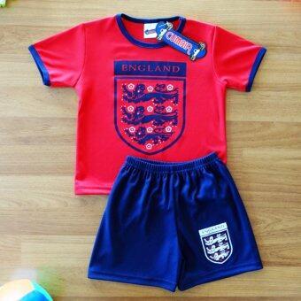 Periquita ไซส์ 1-7 ปี เซ็ต 2 ชิ้น ชุดกีฬาเด็ก ชุดฟุตบอลเด็ก ทีมชาติอังกฤษ สีแดง