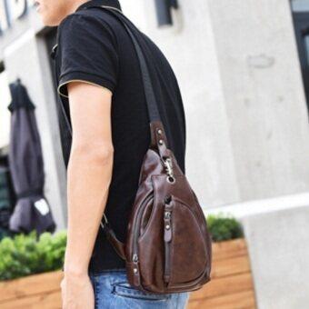 Tokyo Boy กระเป๋าหนังสะพายไหล่ คาดอก รุ่น UP03 (ดำ)
