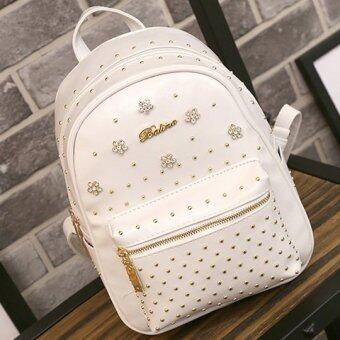 B'nana Beauty กระเป๋าเป้สะพายหลัง backpack women รุ่น BBB-02 (สีขาวเพชร)