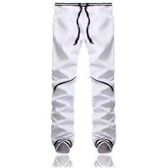 คนธรรมดา PODOM ฮาเร็มกางเกงตัวโคร่งกางเกงวิ่งเต้นฮิปฮอปกางเกงขาว