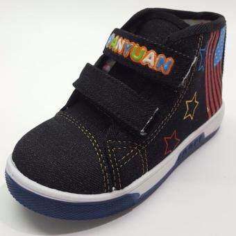 Alice Shoe รองเท้าผ้าใบ แฟชั่นเด็กผู้หญิง รุ่น -SKH052-BK(สีดำ)