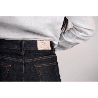 1.8 90's Flare deer Jeans กางเกงยีนส์ทรงขากระดิ่งสำหรับทุกโอกาส (สีไนท์บลู)