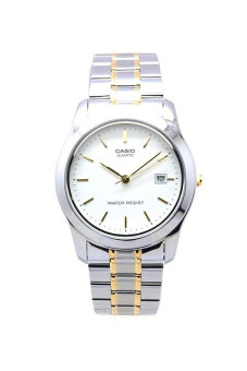 Casio Standard นาฬิกาข้อมือผู้ชาย สายแสตนเลส รุ่น MTP-1141G-7A - Silver/White
