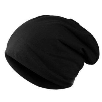 นิวแฟชั่นผู้ชายผู้หญิงหมวกสีทึบฮิปฮอปสวมหมวกถักหมวกสำหรับบุรุษสีดำ