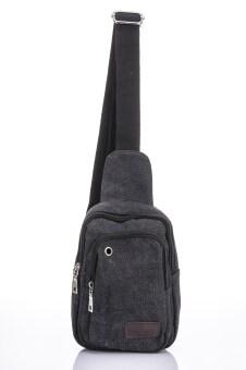 Premium Bag กระเป๋าคาดอก คาดเอว สะพายไหล่ รุ่น PB008 (สีดำ)