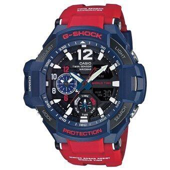 แนะนำ Casio G-Shock นาฬิกาข้อมือสุภาพบุรุษ สายเรซิน รุ่น GA-1100-2ADR (สีน้ำเงิน/แดง) check ราคา