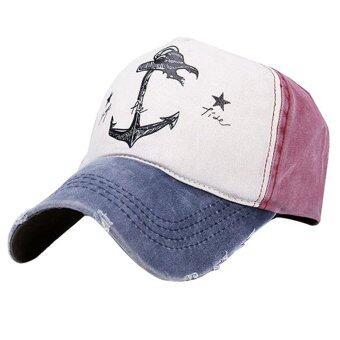 โจรสลัดยึดเรือผ้าพิมพ์ลายวินเทจเพศชายหมวกหมวกเบสบอลนิยมปรับได้ทั้งหมวกฮิปฮอป Snapback แบนสีกรมท่า+มณฑลเบอร์กันดี