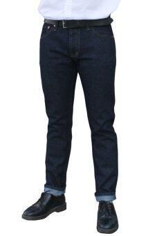 Golden Zebra Jeans กางเกงยีนส์ริมแดงผ้าดิบ สีน้ำเงินขากระบอก