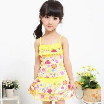 Harga Girl Swimwear Yellow - intl