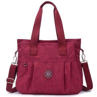 RICHCOCO กระเป๋าสะพาย เนื้อผ้าไนลอนกันน้ำ Waterproof Nylon Crossbody Handbag (Hot Pink)